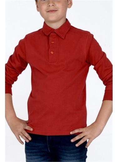 Silversun Kids Polo Gömlek Örme Uzun Kollu Polo Yaka Tişört Erkek Çocuk Bk 310474 Kırmızı
